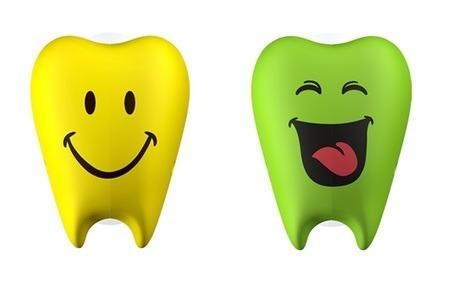 FLIPPER Toothfairy CL - 2-pack uchwytów do szczoteczki do zębów, wzór Cheers & Laugh
