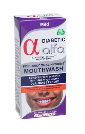 ALFA Diabetic Mild - specjalistyczny płyn do płukania i nawilżania jamy ustnej dla cukrzyków, smak łagodna mięta