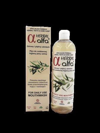 ALFA HERBAL  - płyn do płukania jamy ustnej na bazie ziół, 500 ml