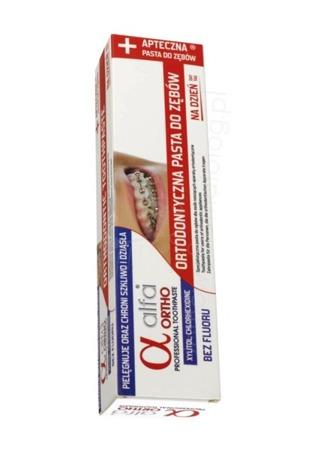 ALFAOrtho Day - ortodontyczna pasta do dziennego mycia zębów, 75ml