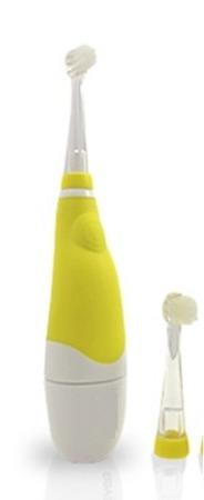 BRUSH-BABY Baby Sonic końcówki wymienne 0-18-mcy - główki czyszczące do szczoteczki sonicznej
