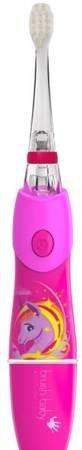 BRUSH-BABY - KIDZSONIC UNICORN  szczoteczka elektryczna (soniczna) dla dzieci wieku od 3-6 lat- jednorożeć, róż