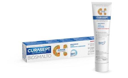 CURASEPT BIOSMALTO JUNIOR PROTECTION owocowa pasta do mycia zębów dla  dzieci, 75 ml