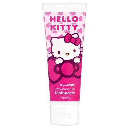 DR FRESH HELLO KITTY - żel do mycia zebów dla dzieci od 6 roku życia, smak truskawkowy, 75 ml
