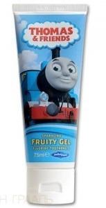 DR FRESH THOMAS&FRIENDS - pasta do mycia zębów dla dzieci od 6 roku życia, smak owocowy, 75 ml