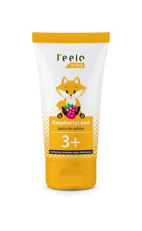 Feelo Kids RaspberryLand potrójna ochrona -  malinowa pasta do zębów dla dzieci przeciw próchnicy zębów, 50ml
