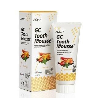 GC Tooth Mousse - płynne szkliwo bez fluoru, odżywka do intensywnej odbudowy szkliwa, smak owoce tutti-frutti