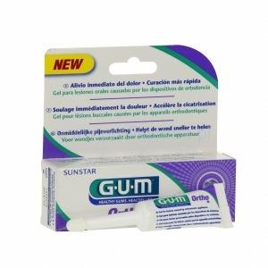 GUM Ortho Gel - żel łagodzący podrażnienia i ból dla osób noszących aparat ortodontyczny z kwasem hialuronowym, 10 ml