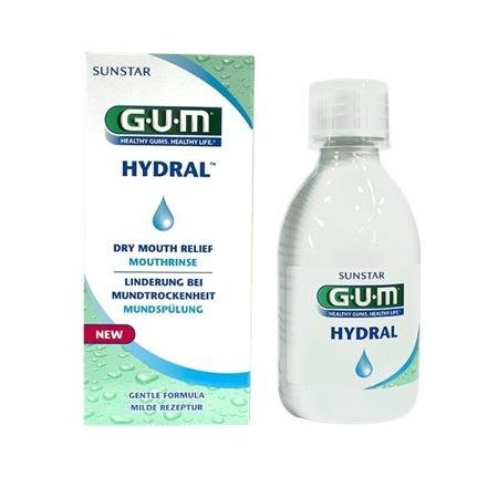 GUM SUNSTAR HYDRAL nawilżajacy płyn do płukania dla osób z problemem suchości jamy ustnej