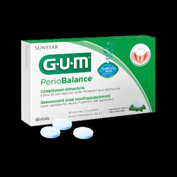 GUM SUNSTAR Perio Balance  probiotyczne tabletki do ssania przeciw stanom zapalnym jamy ustnej, 30szt