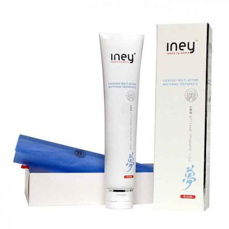INEY DREAM - ekskluzywna, japońska pasta intensywnie wybielająca z nanohydroksypatytem i proszkiem perłowym, 75 ml (niebieska)