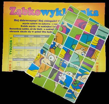 Kalendarz mycia zębów dla dzieci z naklejkami