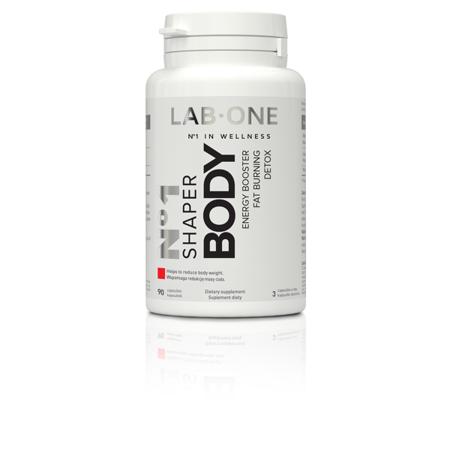 LAB-ONE N°1 Shaper Body wspomaga odchudzanie i detoksykację organizmu, 90 kaps
