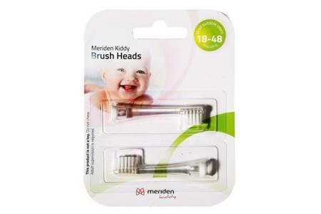 MERIDEN KIDDY Brush HEAD końcówki do dziecięcej szczoteczki sonicznej, 2 szt