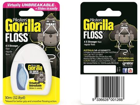 PIKSTERS Gorilla Floss ultramocna nić dentystyczna, 30 m