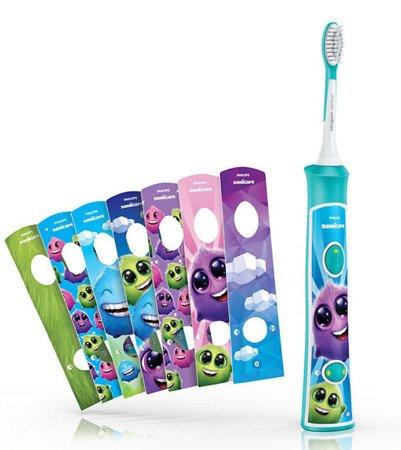 Philips Sonicare HX6321/04 For Kids  - Interaktywna szczoteczka elektryczna (soniczna) dla dzieci od 3 roku życia