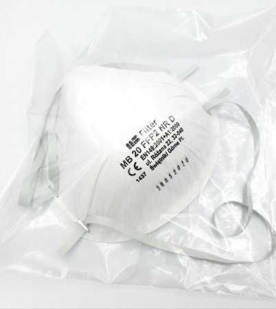 Półmaska ochronna FFP2NR D na gumkę