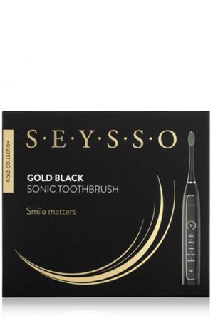SEYSSO Gold Black ekskluzywna czarna  szczoteczka soniczna