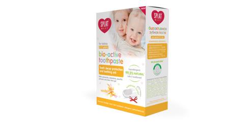 SPLAT Baby 0-3 lat z nakładką na palec - pasta przeciw próchnicy intensywnie wzmacniająca szkliwo, smak wanilia