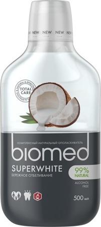 Splat biomed SUPERWHITE naturalny wybielający płyn do płukania jamy ustnej