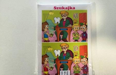 Szukajka  -gra planszowa znajdź 10 różnic, nagroda dla dzielnego Pacjenta