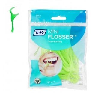 TePe Mini Flosser - nić z wykałaczką, 36 szt, zielone