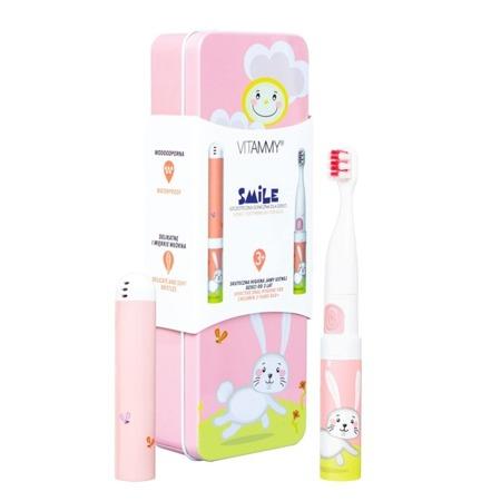 Vitammy SMILE króliczek szczoteczka soniczna dla dzieci, bunny + etui, wiek 3+
