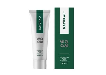 WOOM NR 3 Natural + naturalna pasta do mycia zębów przeciw stanom zapalnym w jamie ustnej, 75 ml