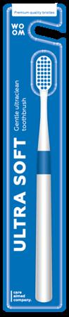 WOOM ULTRA SOFT Ultraclean - szczoteczka do mycia zębów głeboko czyszcząca BLUE
