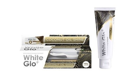 White Glo Coconut Oil Shine ekskluzywna pasta wybielająca z olejem kokosowym i orzeźwiającą miętą, 120 ml