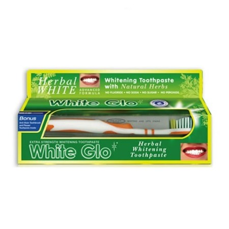 White Glo Herbal White- głeboko czyszcząca pasta ziołowa bez fluoru, 100 ml